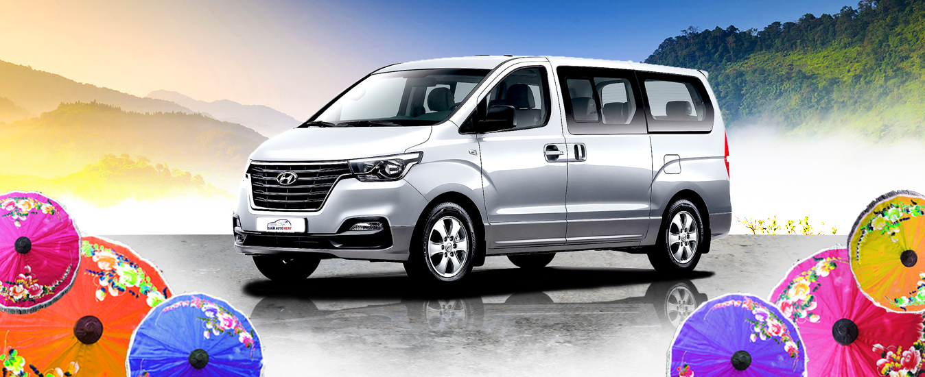 (English) hyundai h1 for rental in chiangmai brand new car 2019 exterior left side view commercial picture